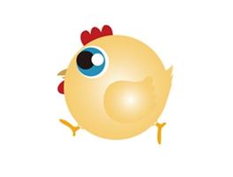 卡通鸡图形商标