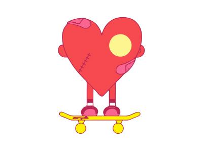 爱心滑板图形