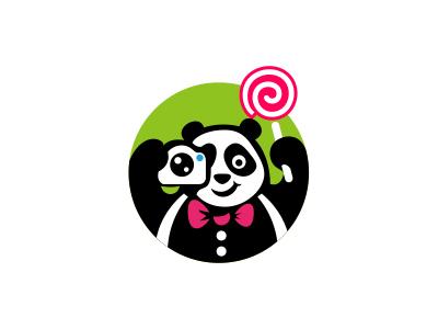 拍照熊猫图形